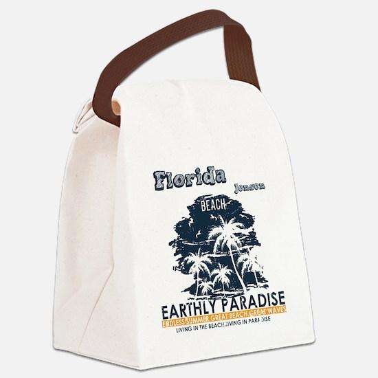 Cute Jensen beach florida Canvas Lunch Bag