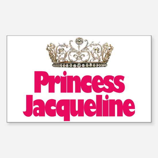 Princess Jacqueline Rectangle Decal