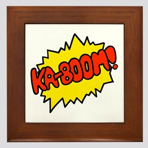 'Ka-Boom! Framed Tile