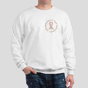 7 Year Breast Cancer Survivor Sweatshirt