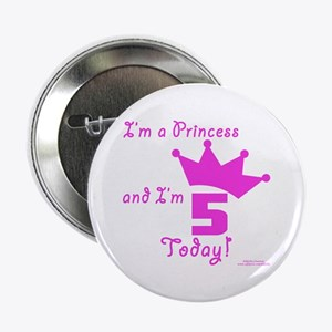 "5th Birthday Princess 2.25"" Button"