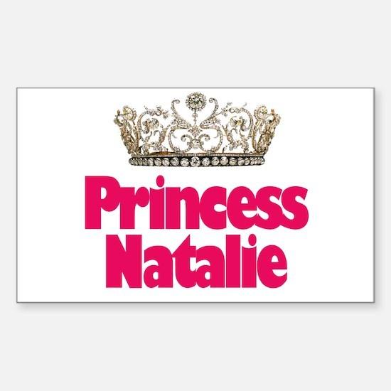 Princess Natalie Rectangle Decal
