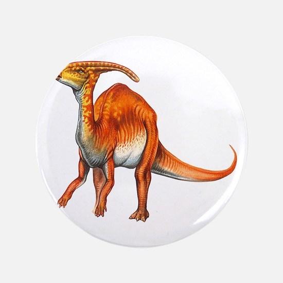 "Parasaurolophus Jurassic Dinosaur 3.5"" Button"