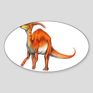 Parasaurolophus Jurassic Dinosaur Oval Sticker
