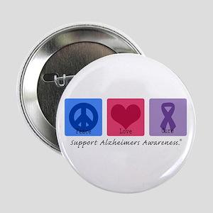 "Peace Love Cure AD 2.25"" Button"