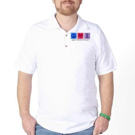 Peace Love Cure AD Golf Shirt