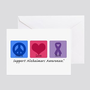 Peace Love Cure AD Greeting Card