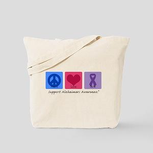 Peace Love Cure AD Tote Bag