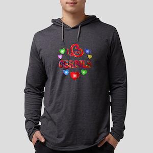 I Love Gerbils Mens Hooded Shirt