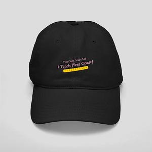 Teacher First Grade Humor Black Cap