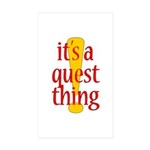 Quest Thing Rectangle Sticker 10 pk)