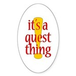 Quest Thing Oval Sticker (10 pk)