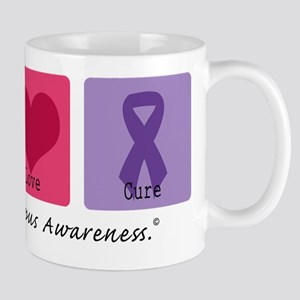Peace Love Cure Lupus Mug