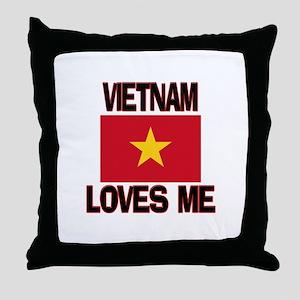 Vietnam Loves Me Throw Pillow