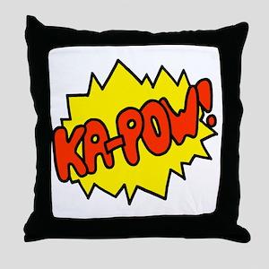 'Ka-Pow!' Throw Pillow