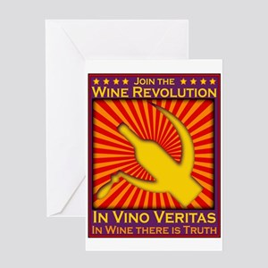 Join the Wine Revolution Greeting Card