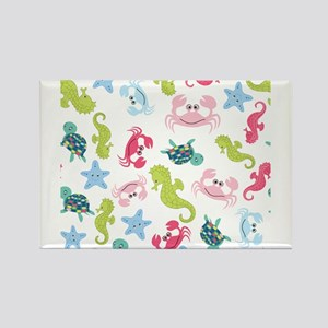 Ocean Babies on White Background Magnets