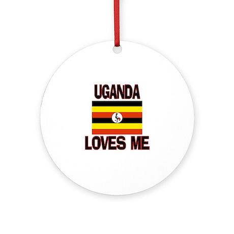 Uganda Loves Me Ornament (Round)