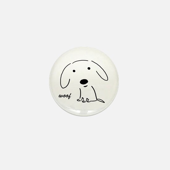 Little Woof Mini Button