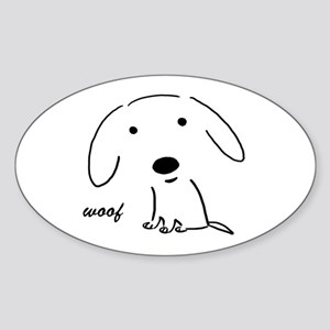 Little Woof Oval Sticker