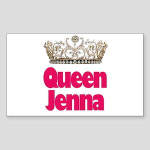 Queen Jenna Rectangle Sticker