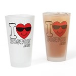 I LOVE BOSTON.png Drinking Glass