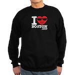 I LOVE BOSTON.png Sweatshirt