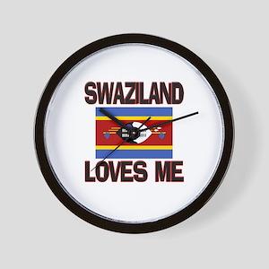 Swaziland Loves Me Wall Clock