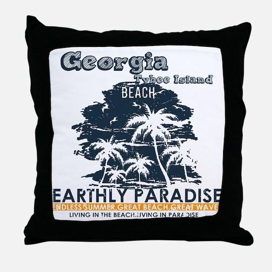 Cool Tybee island Throw Pillow