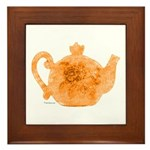 Tea is Hot! Framed Tile