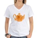Tea is Hot! Women's V-Neck T-Shirt