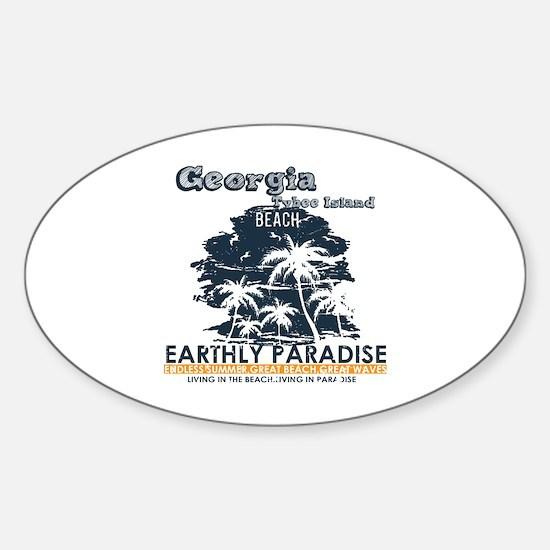 Unique Tybee island Sticker (Oval)