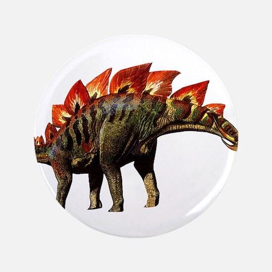 "Stegosaurus Jurassic Dinosaur 3.5"" Button"