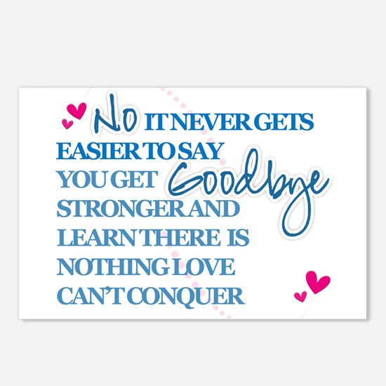 Good Byes Don't get Easier Postcards (Package of 8