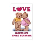 Teddy Love Rectangle Sticker