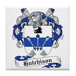 Hutchison Family Crest Tile Coaster