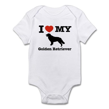 I love my Golden Retriever Infant Bodysuit