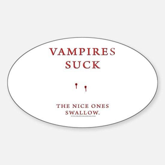 Vampires Suck Oval Decal