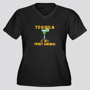 Tequila Is My Spirit Animal Marg Plus Size T-Shirt