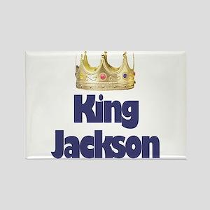 King Jackson Rectangle Magnet