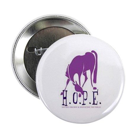 """HOPE Horse Rescue 2.25"""" Button (10 pack)"""
