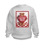 Love You Beary Much Kids Sweatshirt