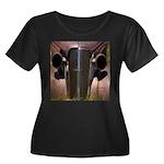 Road Rage Women's Plus Size Scoop Neck Dark T-Shir