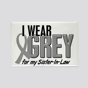 I Wear Grey For My Sister-In-Law 10 Rectangle Magn