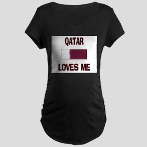 Qatar Loves Me Maternity Dark T-Shirt