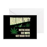 Marijuana Party Greeting Cards (Pk of 10)