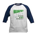 Marijuana Party Kids Baseball Jersey