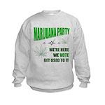 Marijuana Party Kids Sweatshirt