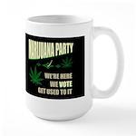 Marijuana Party Dark Large Mug