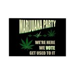 Marijuana Party Rectangle Magnet (100 pack)